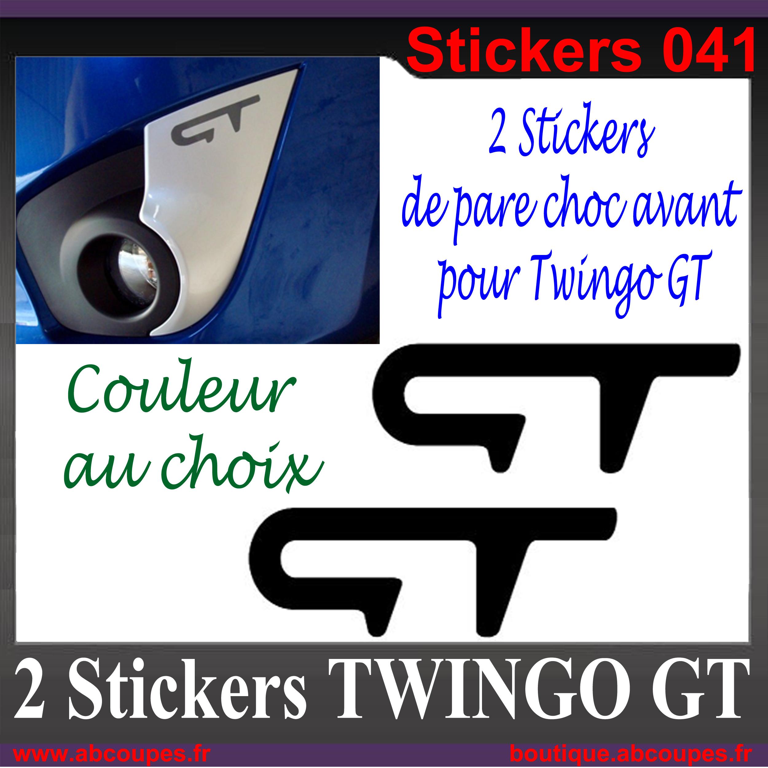 2 stickers pare choc avant pour twingo gt renault sport. Black Bedroom Furniture Sets. Home Design Ideas