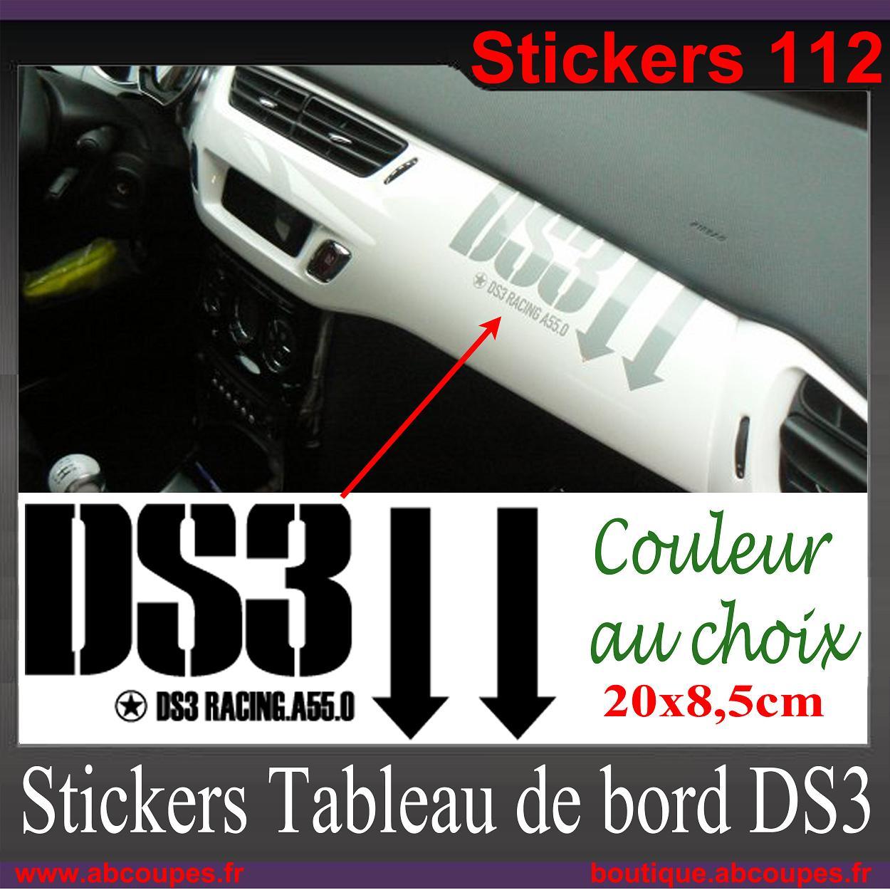 Stickers tableau de bord ds3 citroen racing ds 3 planche for Interieur stickers